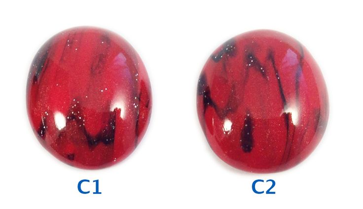 Polymer clay cabochons for bead embroidery and jewelry making.