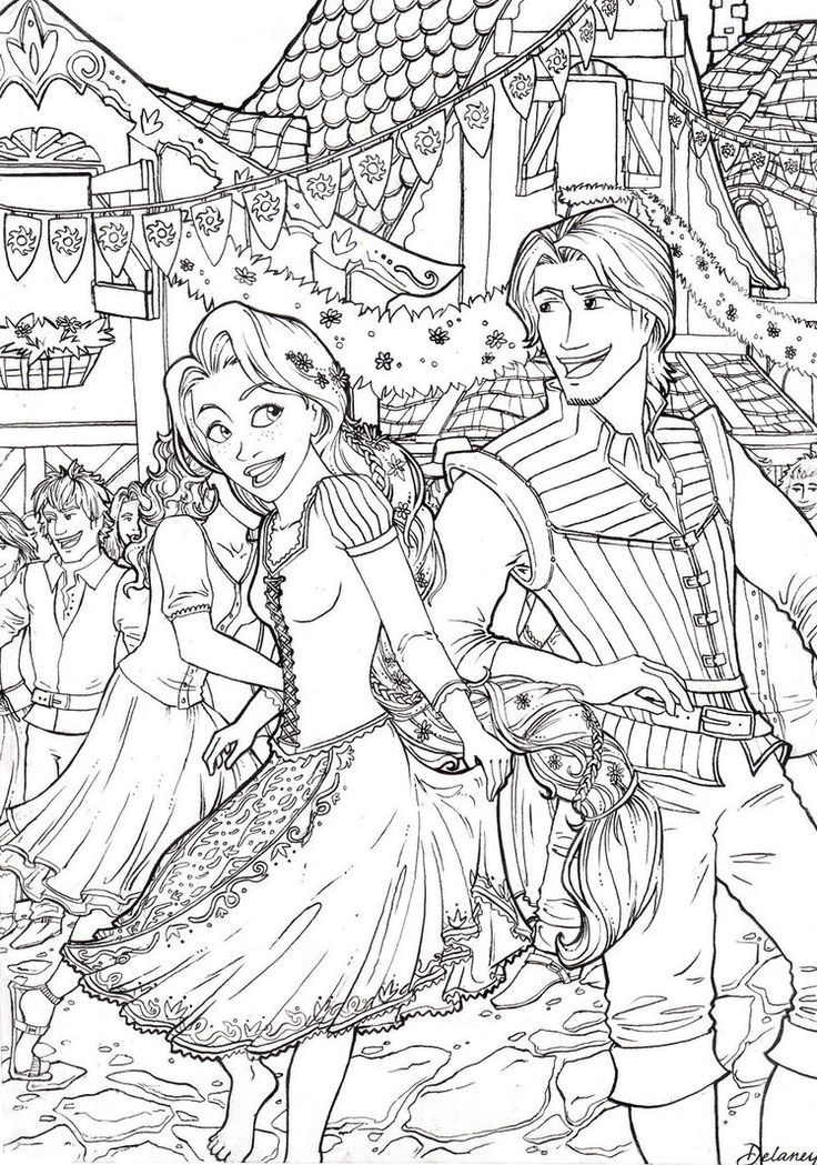 Luthien Tinuviel Coloring Pages