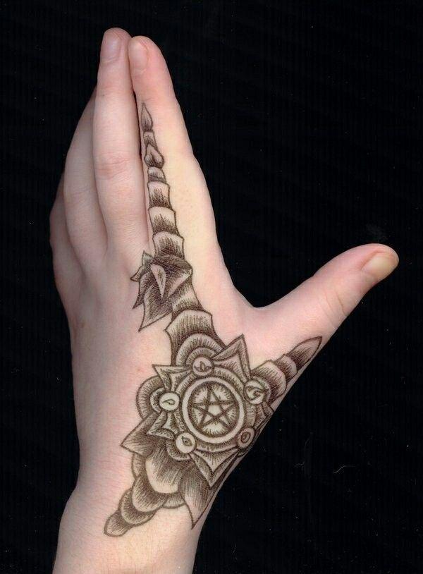 Female hand tattoo