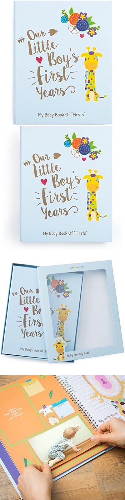 Keepsakes and Baby Announcements 117388: Memory Book For Baby Boy, Photo Album, Easy To Use Keepsake Scrapbook, Modern -> BUY IT NOW ONLY: $48.79 on eBay!