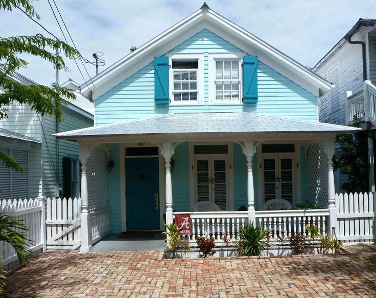 Coastal Blue Exterior Paint Colors Best For Homes Home Pictures Hom Color Tropical Key West Styl Beach Cottage Style Exterior House Colors House Paint Exterior