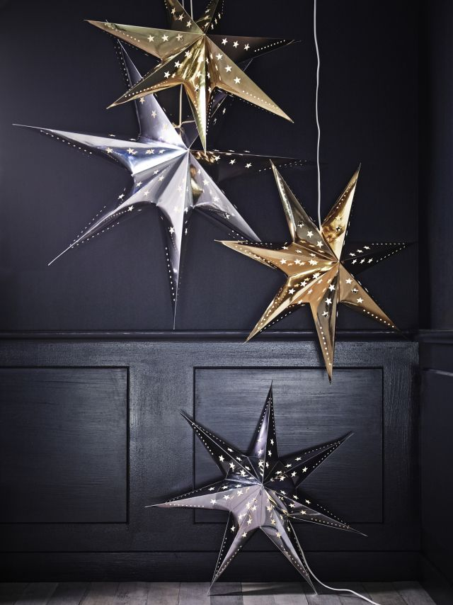 Ikea Christmas 2013   Metallic Star Lights