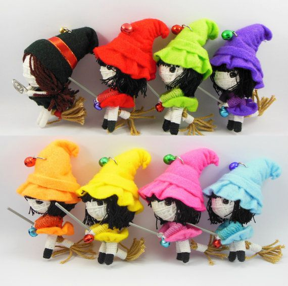 Wick Witch cute String doll Voodoo doll keychain by narakdoll, $6.99