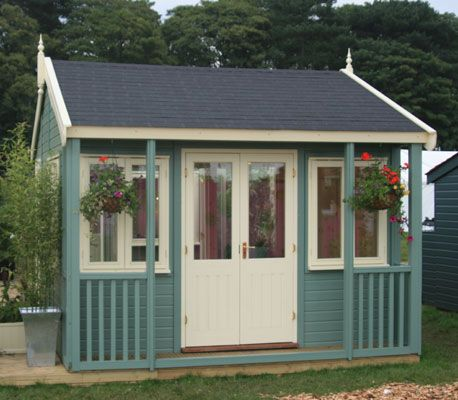 14 best images about shed on pinterest gardens sweet for Corner garden office