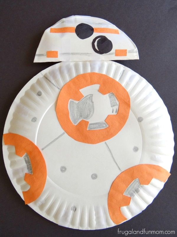 Star Wars Inspired Paper Plate Bb 8 Robot Photo Star