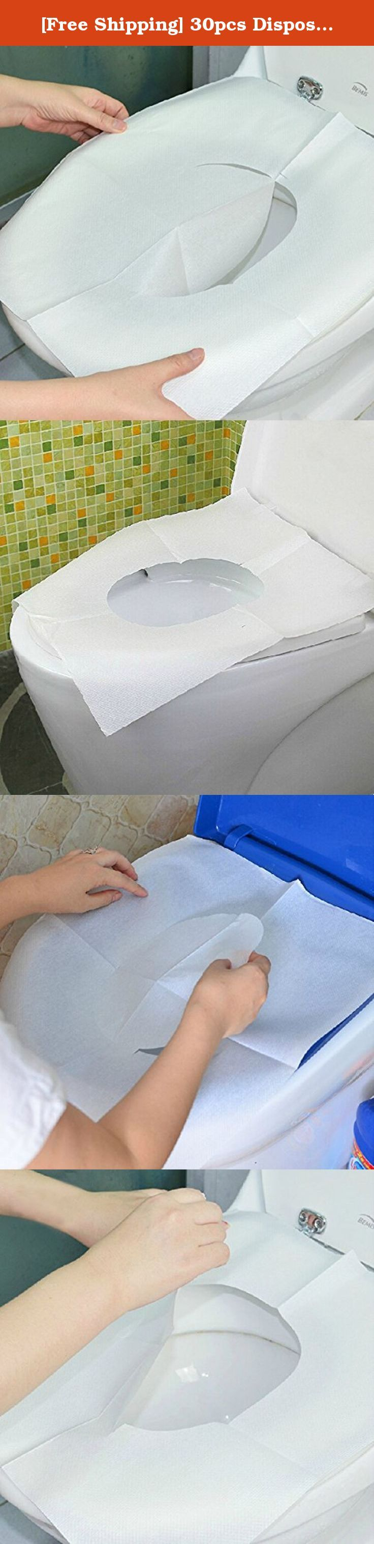 [Free Shipping] 30pcs Disposable Toilet Mat Antibacterial Waterproof Seat Cover Paper // 30pcs estera higiénico desechable de papel cubierta de asiento impermeable antibacteriano. Description: Product packaging compact and convenient for the journey Antibacterial closestool mat is suitable for travel and business trip in the hotel or hotel. Using pure natural napped fabric which has good solubility in water and it can be directly thrown into the toilet after use,not blocked. Put it on the...
