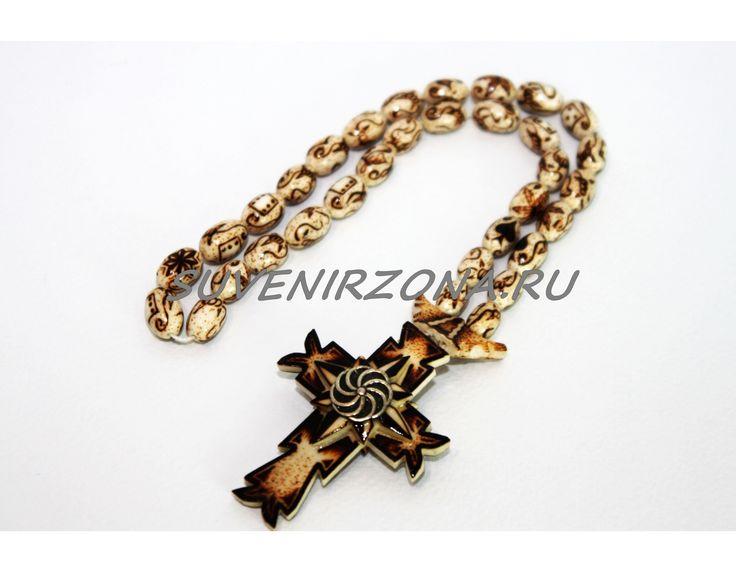 Купить четки ручной работы «Крест-серебро»