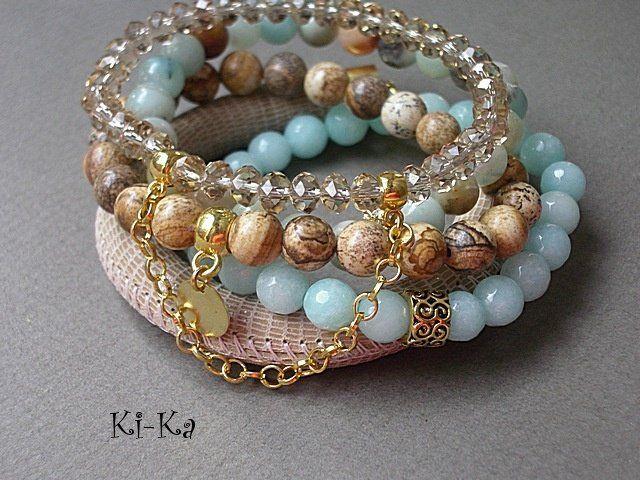 PASTELOWY  SET 17 - bransoletka (proj. Ki-Ka), do kupienia w DecoBazaar.com