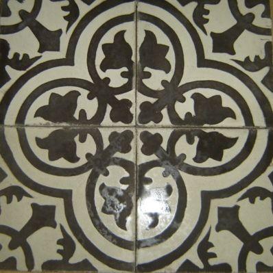 Cuban Tropical Tile - Cluny Leon Black