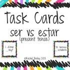 Task Card Set - Ser vs Estar in Spanish Sentences