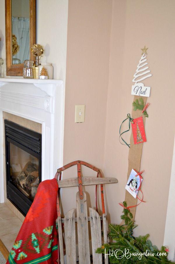 DIY Hanging Christmas Card Holder Tutorial | Christmas card holders