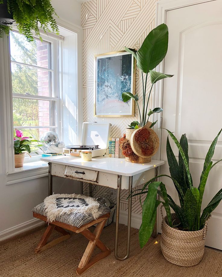 This little corner of my room has turned into quite the perfect little office sp…