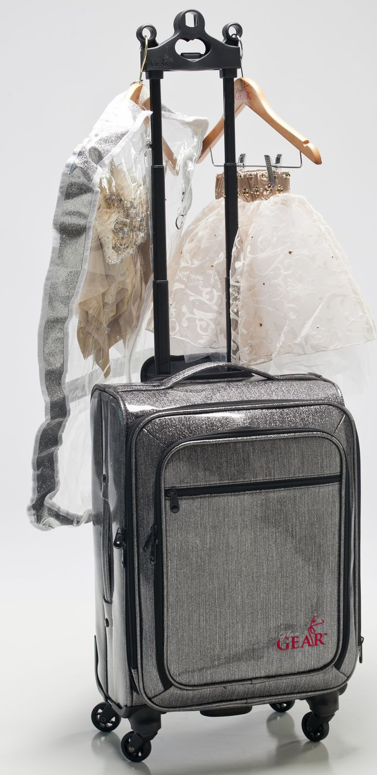 Glam'r Gear Solo dance bag. The newest line of rolling dance bags with rack for the company. Designed to hold 1-3 costumes. A carry-on with a twist!