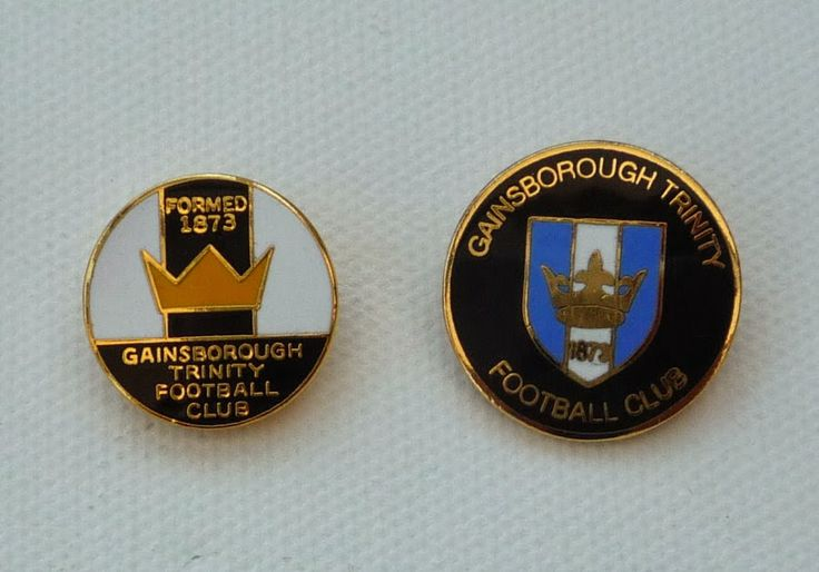 Two badges representing Gainsborough Trinity, currently playing in England's 6th-level Conference North division