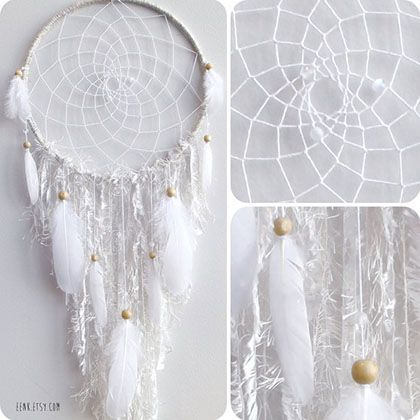 lodis wallets White Dreamcatcher Making a dreamcatcher in white seems very calming  Try making it in single color variations  like beige  yellow  brown and so on  Photo Credit  EENK