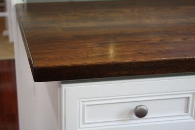 staining butcher block countertops