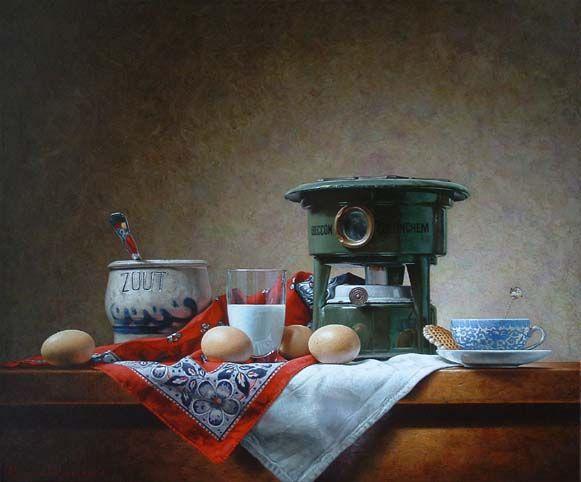 Roman Reisinger - Still life with chicken eggs