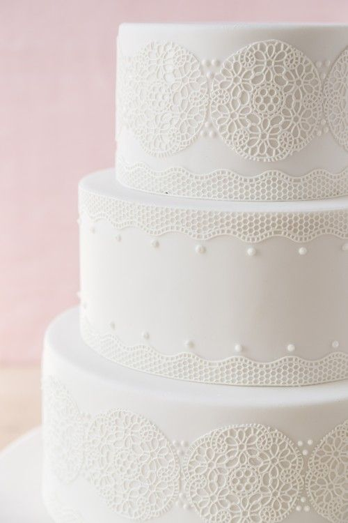 Lace Design Wedding Cake : White Lace Wedding Cake by Cassidy Budge Cake Design ...