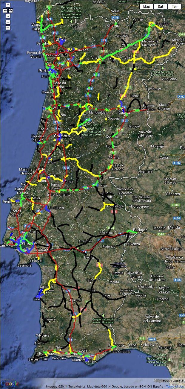 Mapa De Estradas De Portugal Poupar Melhor Aerial Photo City
