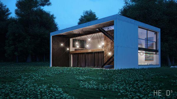 fischer house by Velibor Vojvodic (HE[a]D studio), via Behance