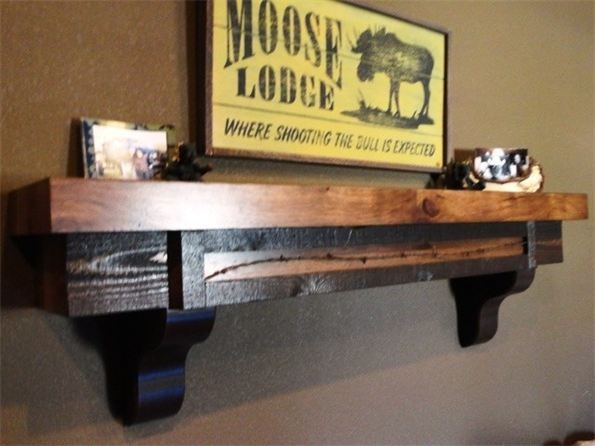 Rustic Barn Wood Mantle With Secret Compartment: http://www.mh-customwoodworks.com