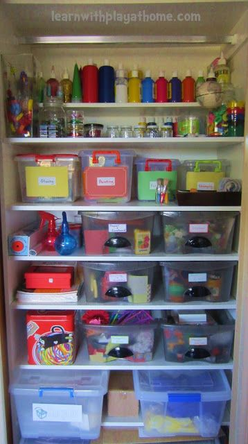Learn With Play At Home: Organisation Ideas For An Art/Craft Cupboard
