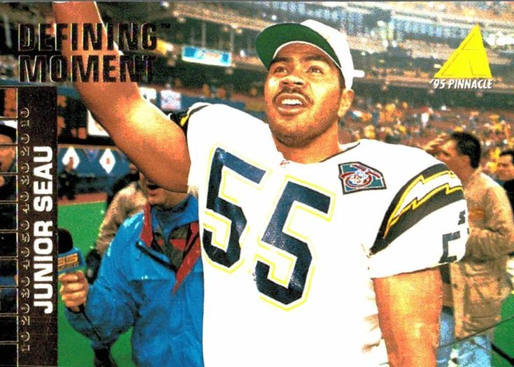1995 Pinnacle Junior Seau Defining Moment San Diego Chargers