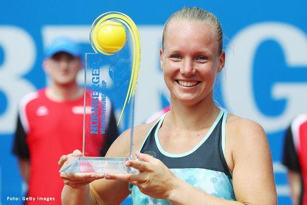 Kiki Bertens 2016 Nuernberger Cup singles champion - via Nürnberger Cup   Twitter