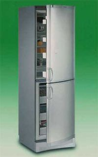 Oh gosh, maybe this is the solution to our tiny galley kitchen. Tall and skinny ConServ fridge