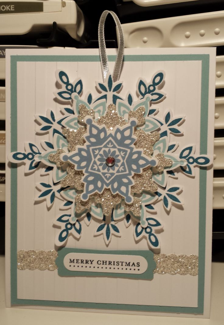 SU Festive Flurry Christmas Card Stampin Up by Gloria Kremer