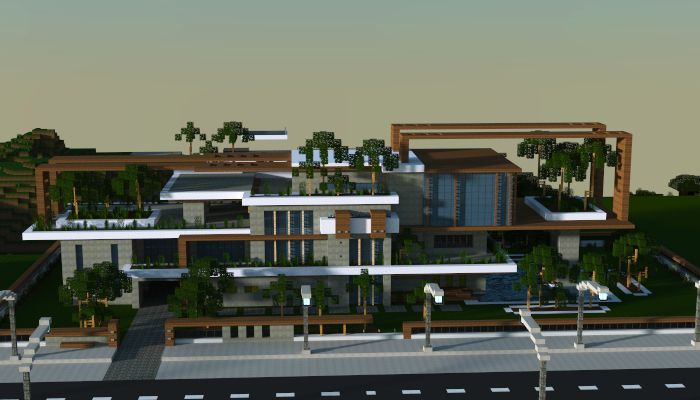 78 best ideas about jar9 modern houses and buildings on for Big modern houses on minecraft