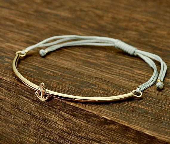 Gold Anchor Bracelet Women Jewelry Valentine S Day Gift For Friend Adjule Womens
