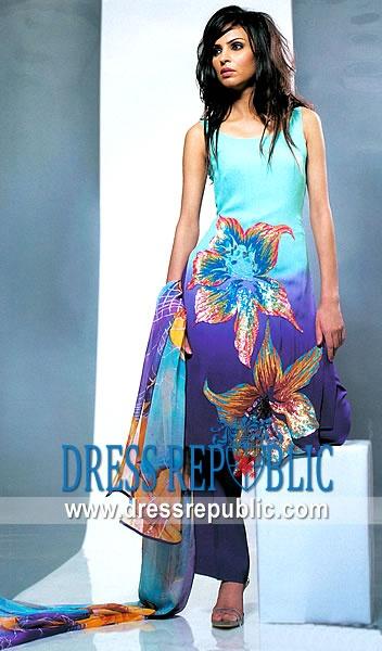 Two Toned Acmon, Product code: DR1556, by www.dressrepublic.com - Keywords: Casual Wear Pakistan, Pakistani Casual Dresses, Shalwar Kameez Pakistan