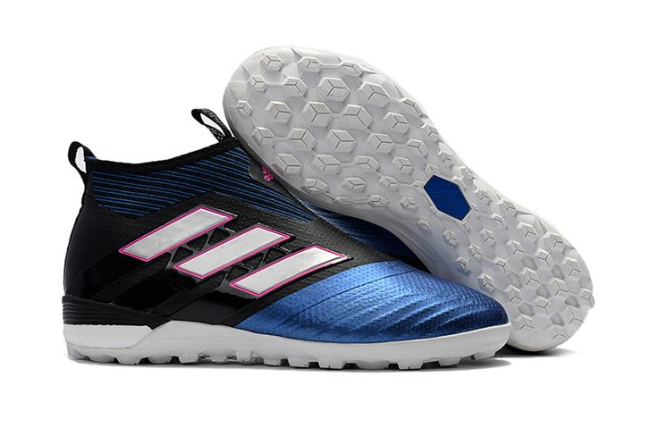 adidas ACE Tango 17+ Purecontrol TF - Mens Soccer Cleats - Turf Trainer - Core Black/White/Blue