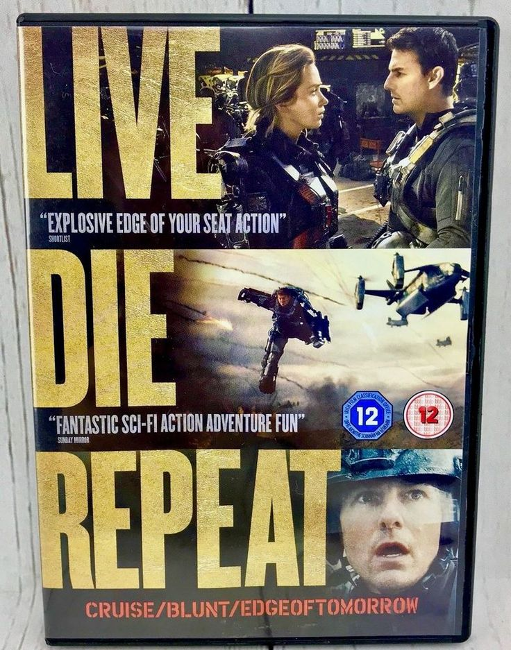LIVE DIE REPEAT EDGE OF TOMORROW 2014 DVD TOM CRUISE SCI-FI ACTION FILM