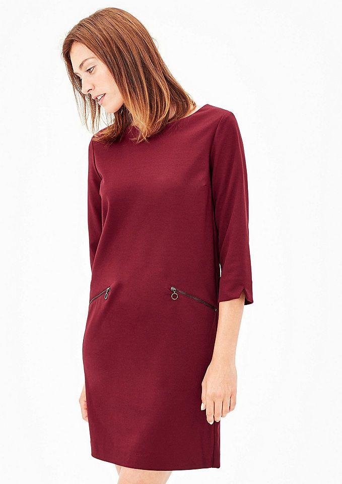 s.Oliver RED LABEL Crêpe-Kleid mit Zipper-Details Jetzt bestellen unter: https://mode.ladendirekt.de/damen/bekleidung/kleider/sonstige-kleider/?uid=3bfc845b-9e59-5ac2-88d9-c6055bd1eb26&utm_source=pinterest&utm_medium=pin&utm_campaign=boards #sonstigekleider #kleider #bekleidung