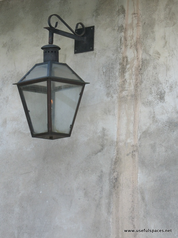 Bevolo Gas Lamp in courtyard at Napoleon House