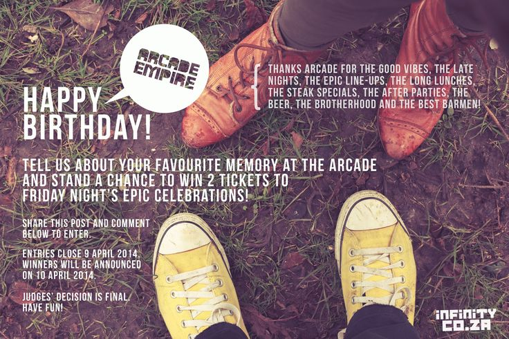 Pretoria's beloved party venue, Arcade Empire, is celebrating their third birthday! And you're invited to join the party!
