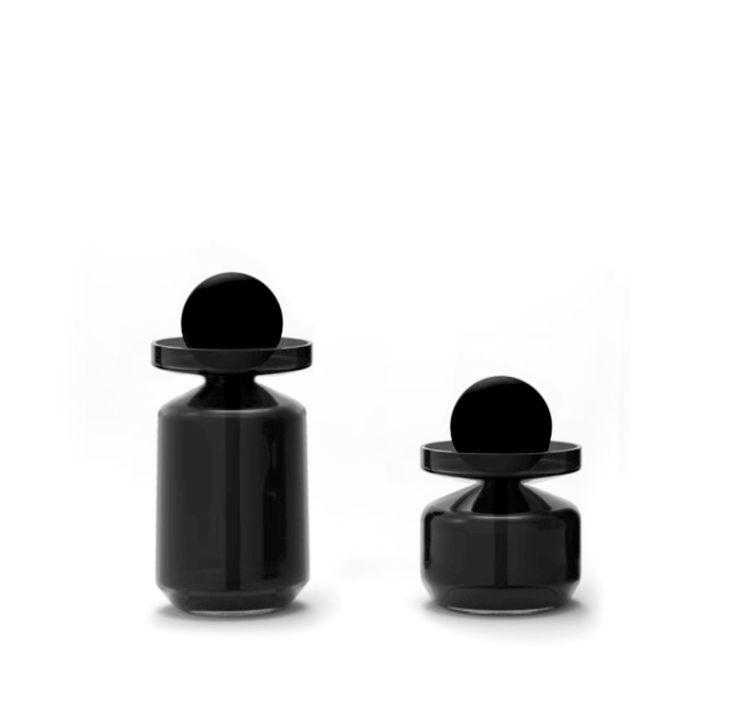 Flacon Objets 2822 / Bouchon doseur à pipette - 200 ml H 17,5 cm - Noir - Petite Friture