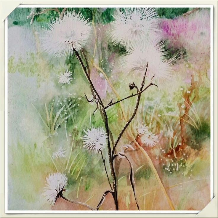 Autumn colors / Aquarelle painting made by Tinterova