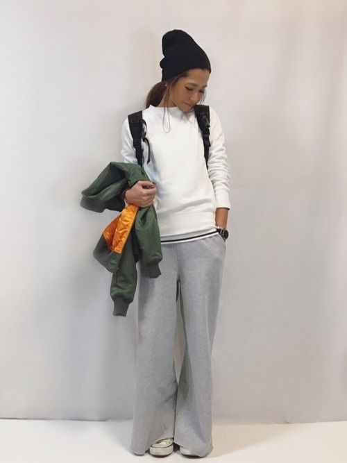 GUのスウェットは私でM着用です☺︎ Instagram  kayo.912