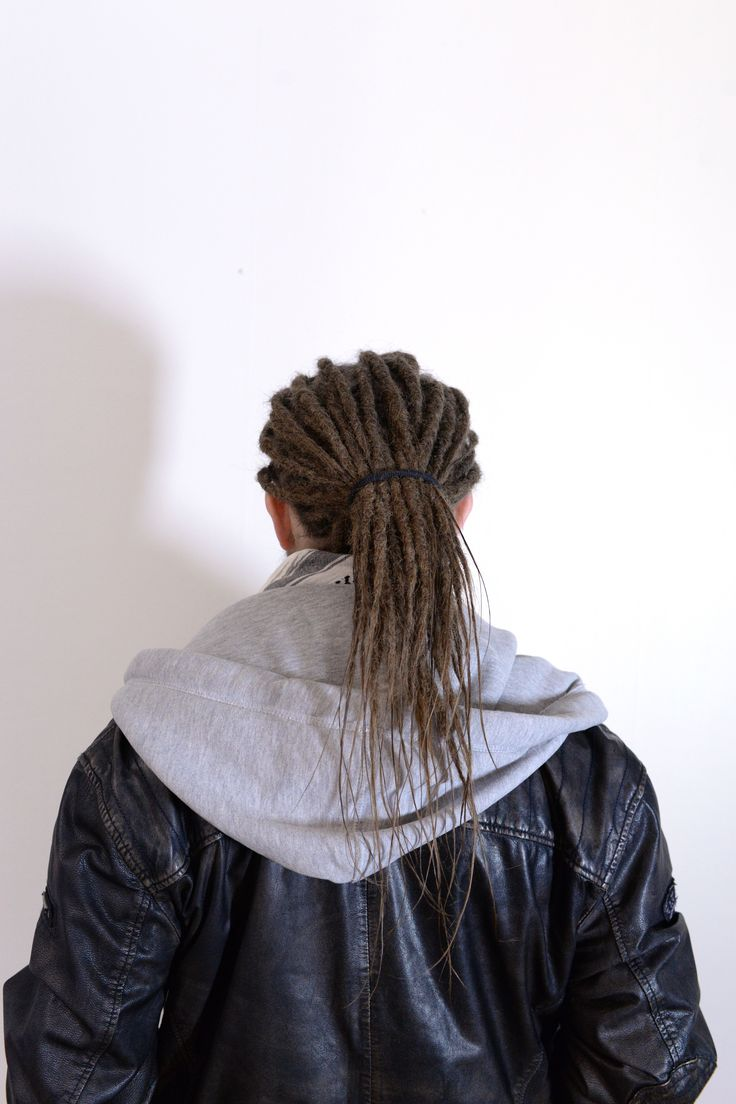 Here is Andreas, he decided to take a leap and get dreadlocks done just to try out something new. He had rather long hair so I only made dreadlocks on his own hair. Here is a photo of him when I was finaged with his dreadlocks.