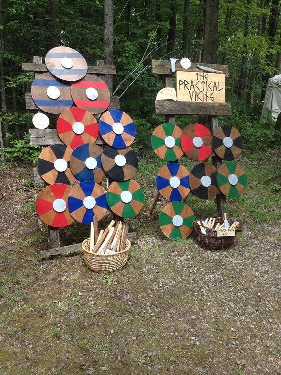 Viking Shield Set for Children Wooden Viking by ThePracticalViking