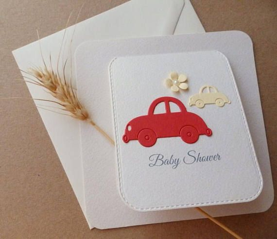 Car baby shower invitation/Announcement baby shower