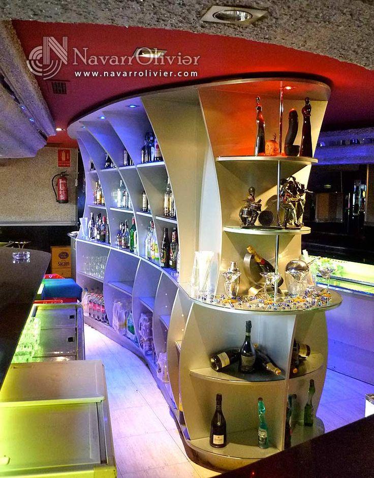 Mueble botellero para interior de barra.  navarrolivier.com