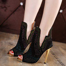 Black and Gold Peep Toe Heels Ankle Booties with Colorful Rhinestones - $119.99 http://shareasale.com/r.cfm?b=877867&u=1560813&m=66327&urllink=https%3A%2F%2Fwww%2Efsjshoes%2Ecom%2Fblack%2Dand%2Dgold%2Dpeep%2Dtoe%2Dheels%2Dankle%2Dbooties%2Dwith%2Dcolorful%2Drhinestones%2Ehtml&afftrack=