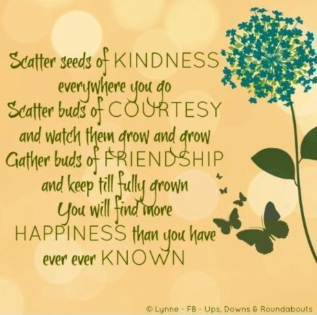 building a friendship is like planting a garden In many ways, the gardening analogy is better than any other analogy (say, running a race, rowing, or building a house) you have to get really good at doing these things: 1.