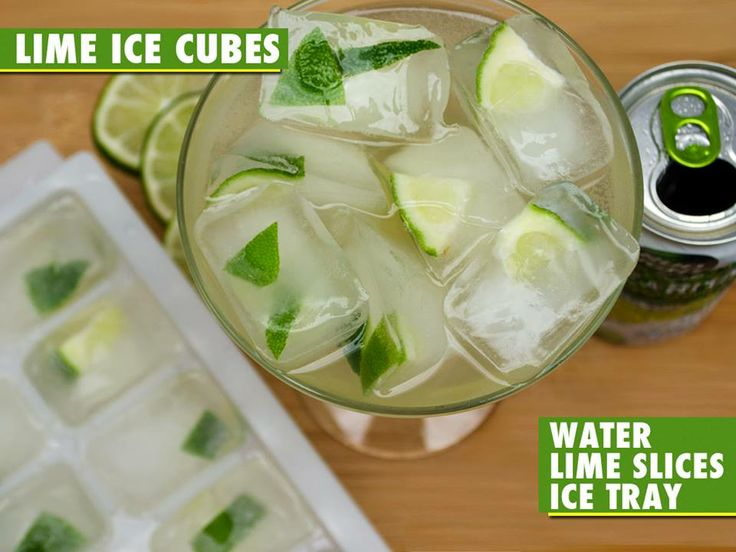 Lime Ice Cubes - the perfect way to drink a Bud Light Lime-A-Rita