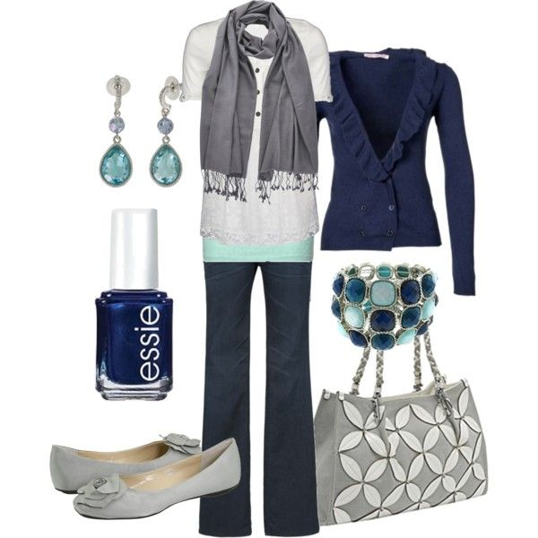 Love this Navy cardigan: Colors Combos, Dreams Closet, Clothing, Fashionista Trends, Fall Outfits, Grey Blue, Nails Polish, Everyday Outfits, Navy Blue