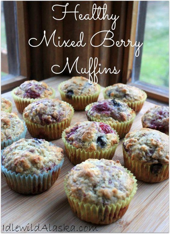 Healthy Mixed Berry Muffins - IdlewildAlaska